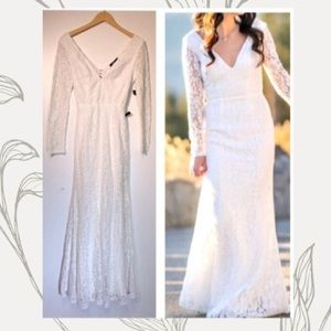 Lulus Natural Beauty White Lace Backless Dress